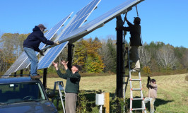 turning the Katywil community solar panels for fall
