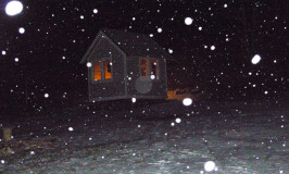 electricity & 1st snow for Lynn's little Katywil house