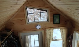 Lynn's tiny house at Stowe Farm from her loft