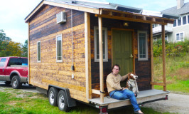 A wonderful tiny visit from Drew and his tiny house