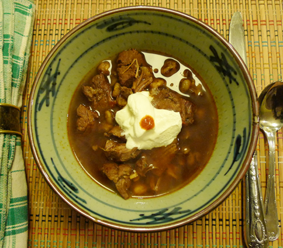 Stowe Farm pasole stew warms your soul on a stormy day