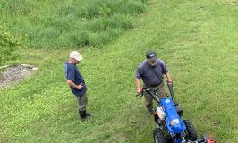 Stowe Farm learns how to use our new BCS mower