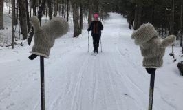 Emma skiing at Stowe Farm Community, Colrain, MA