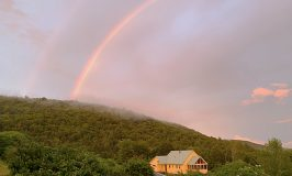 Double rainbow at Stowe Farm Community