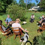 Geese love garden parties
