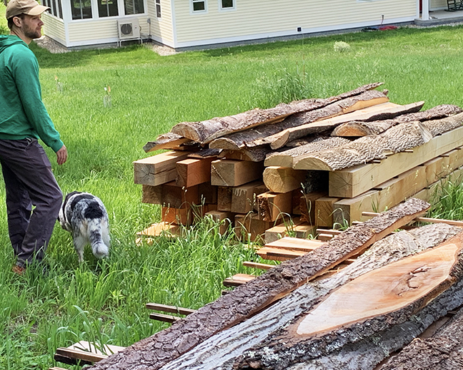 timber is both from Michael & Betsy's managed woodlot