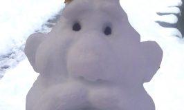 Stowe Farm snow sculpture