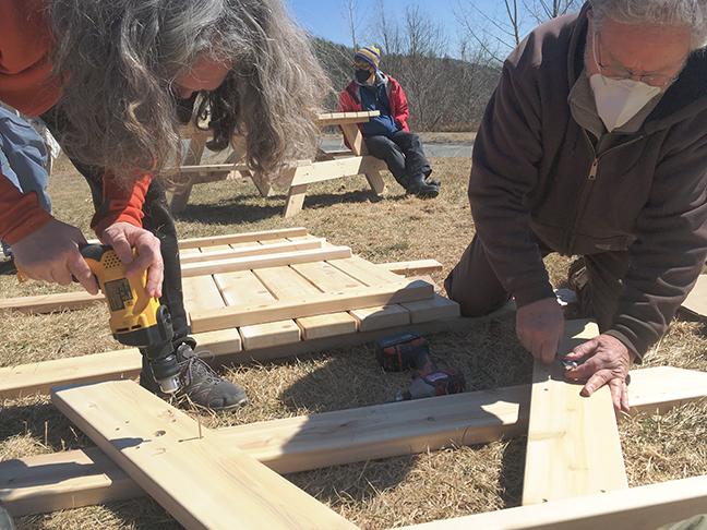 Making gathering space at Stowe Farm