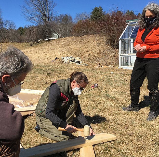 Building community tables at Stowe Farm