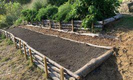 Building terraced garden at Stowe Farm