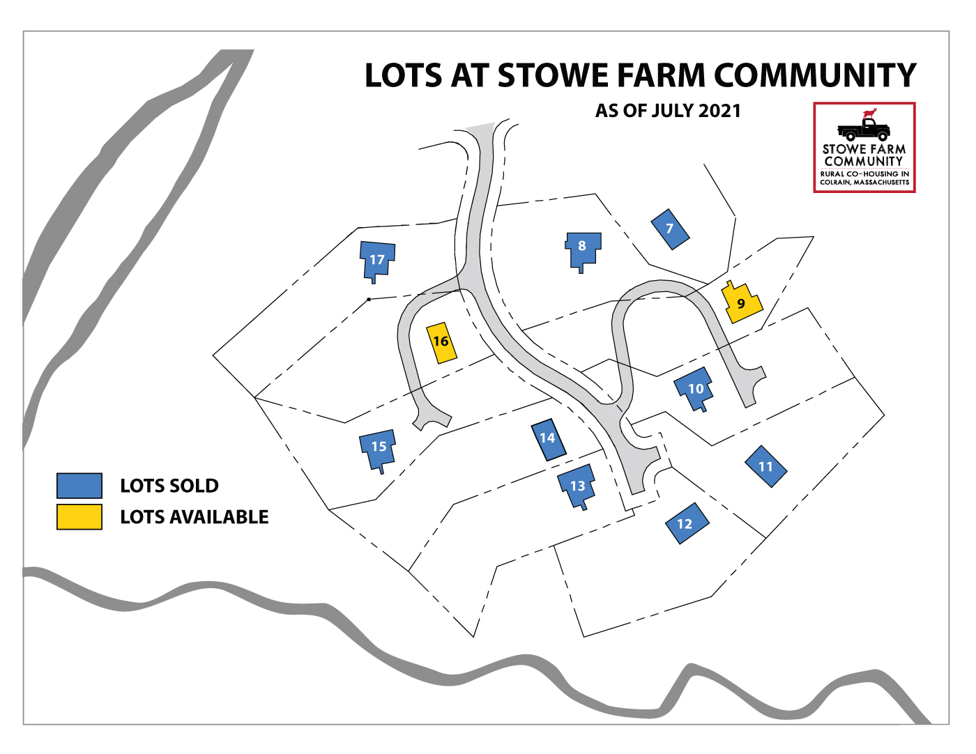 2 more building lots for sale at Stowe Farm Community